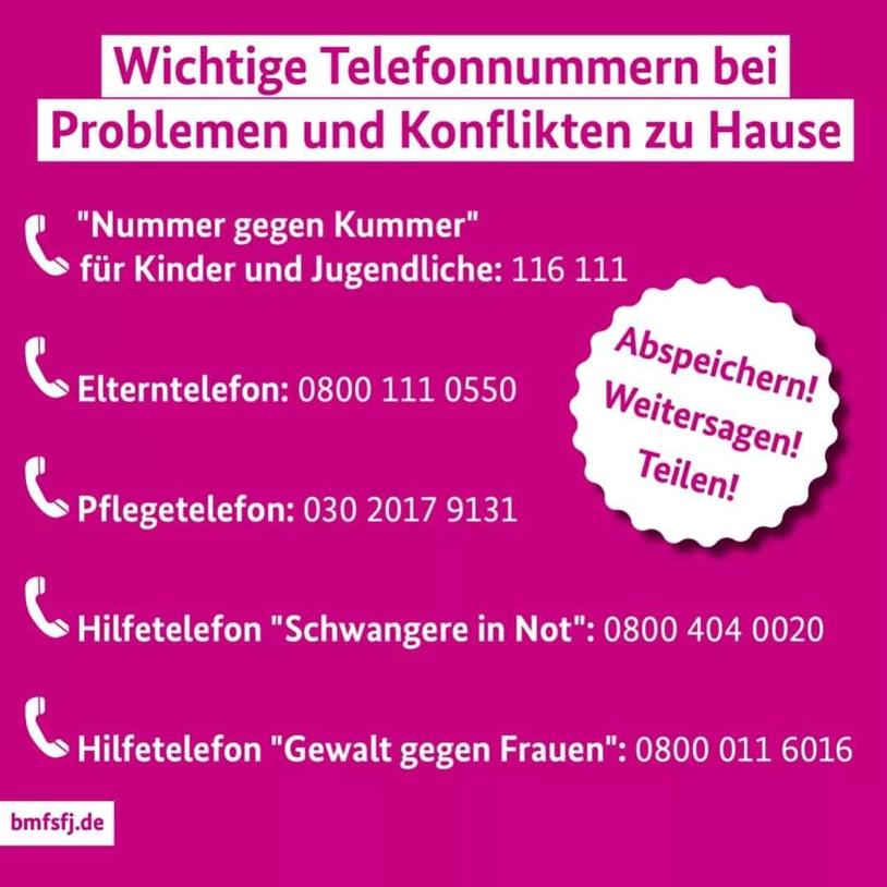 Wichtige-Hilde-Telefonnummern